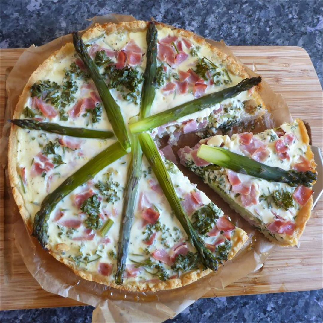 Absolutely brilliant asparagus and ham quiche