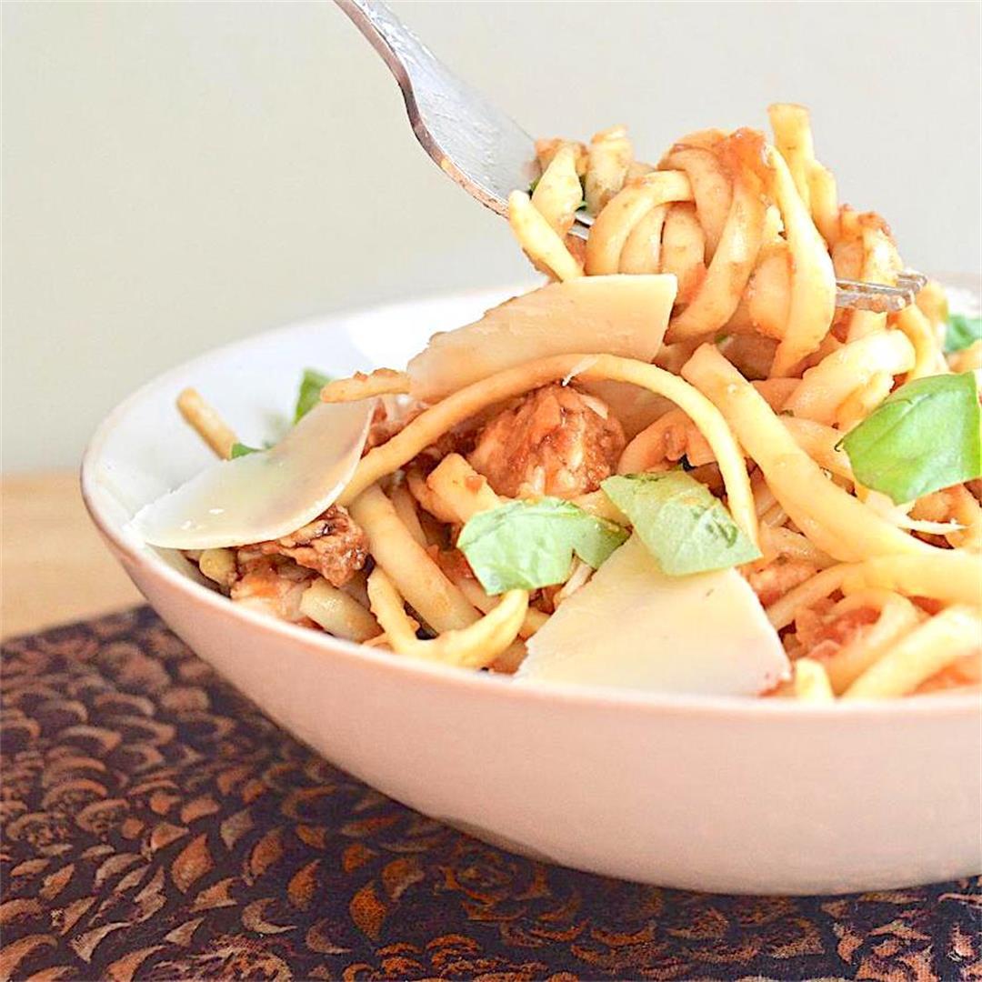 Bruschetta Chicken Pasta - Jeanie and Lulu's Kitchen