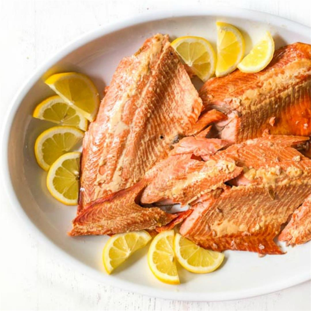 Easy Brined Smoked Salmon - low carb