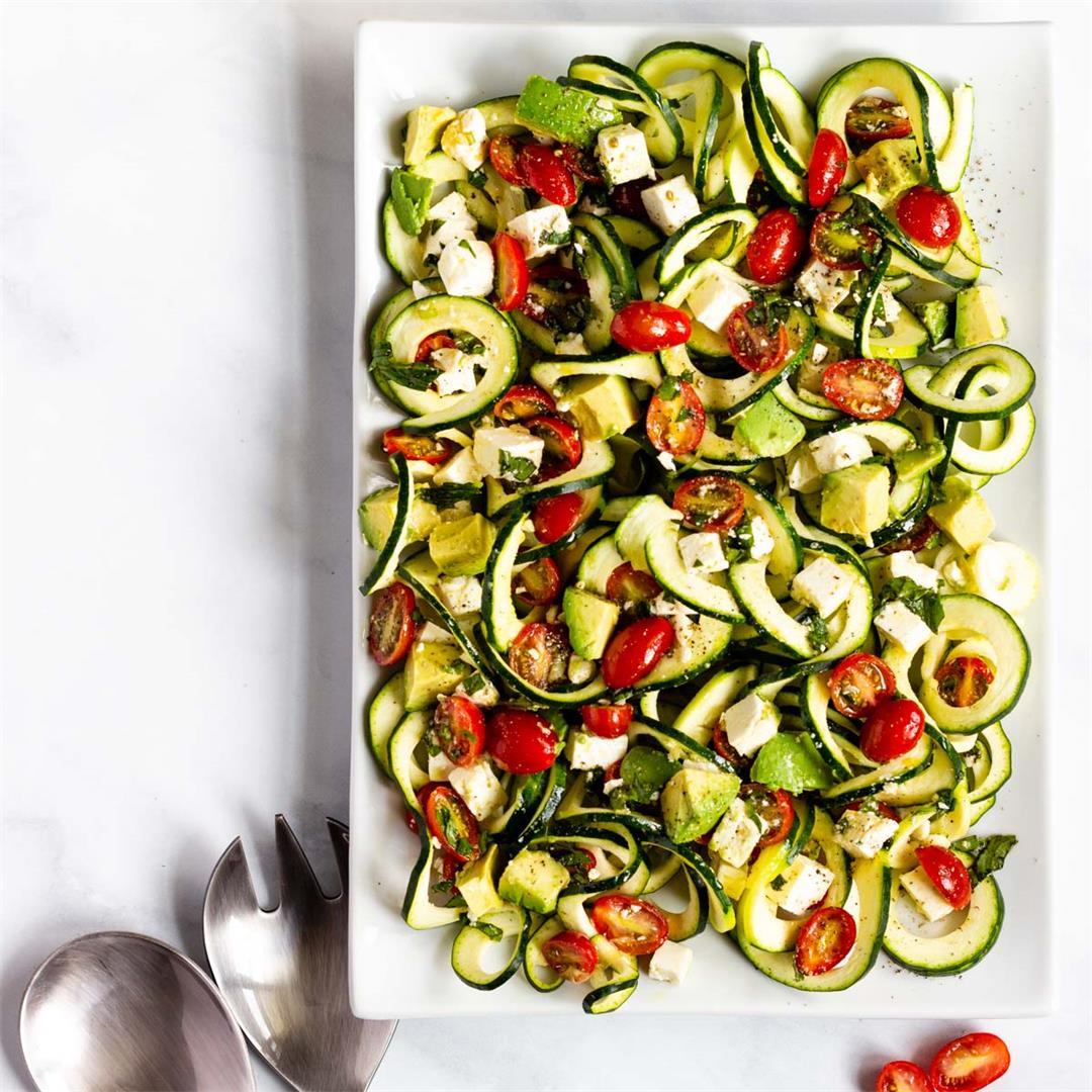 Tomato Avocado Zucchini Salad