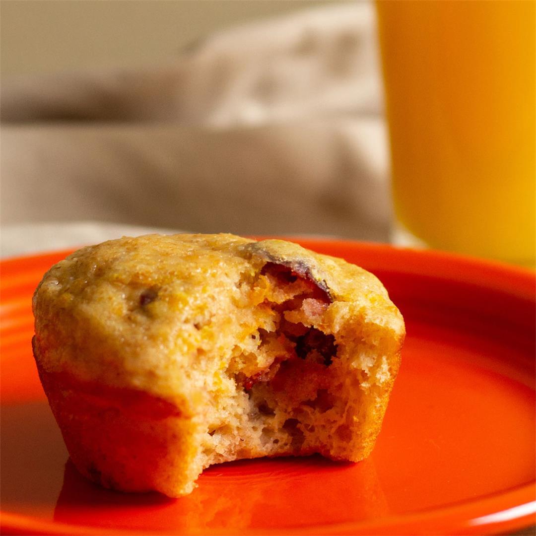 Sunrise Orange Juice Muffins for National Orange Juice Day