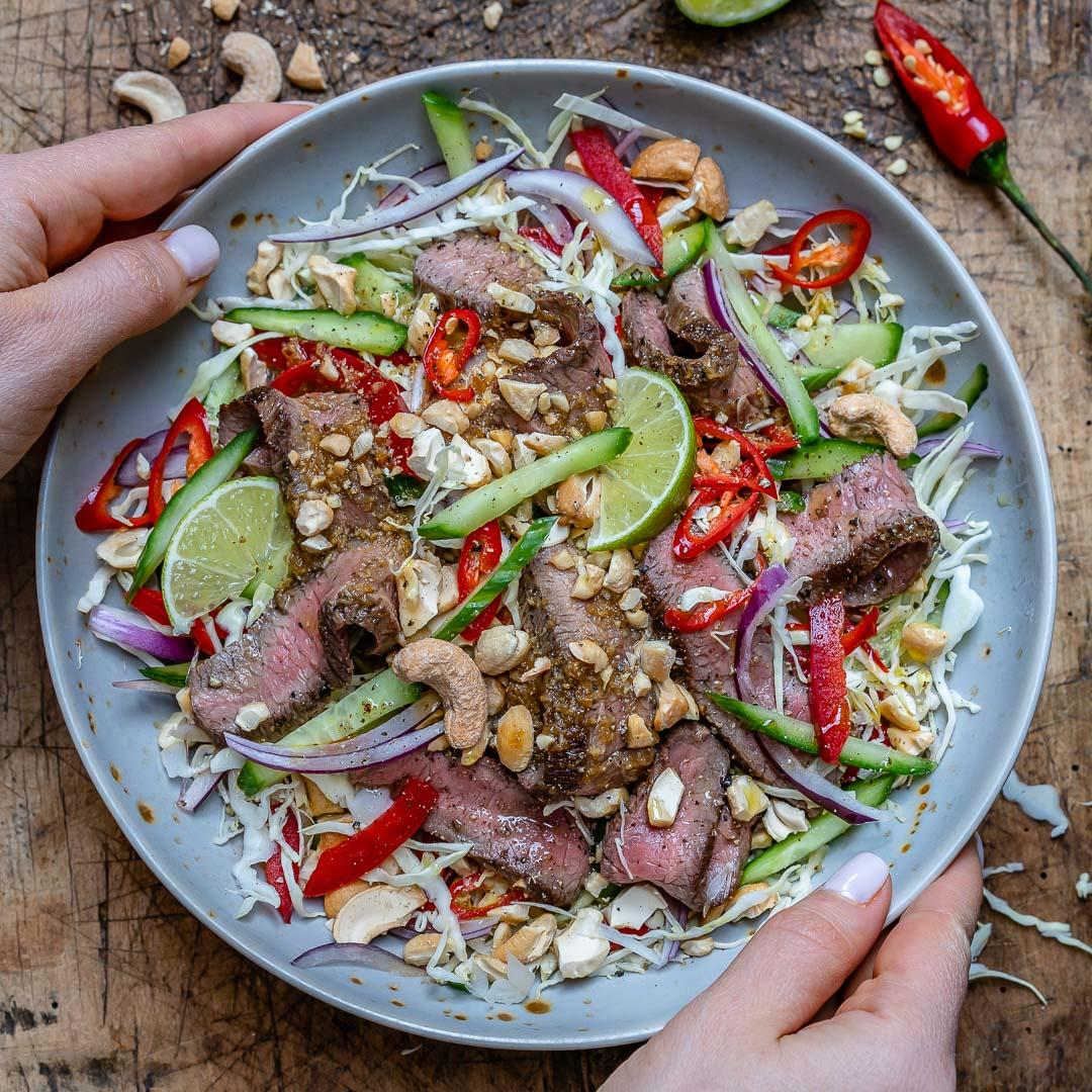 Easy Thai Beef Salad Recipe (Keto/Paleo/Whole30)