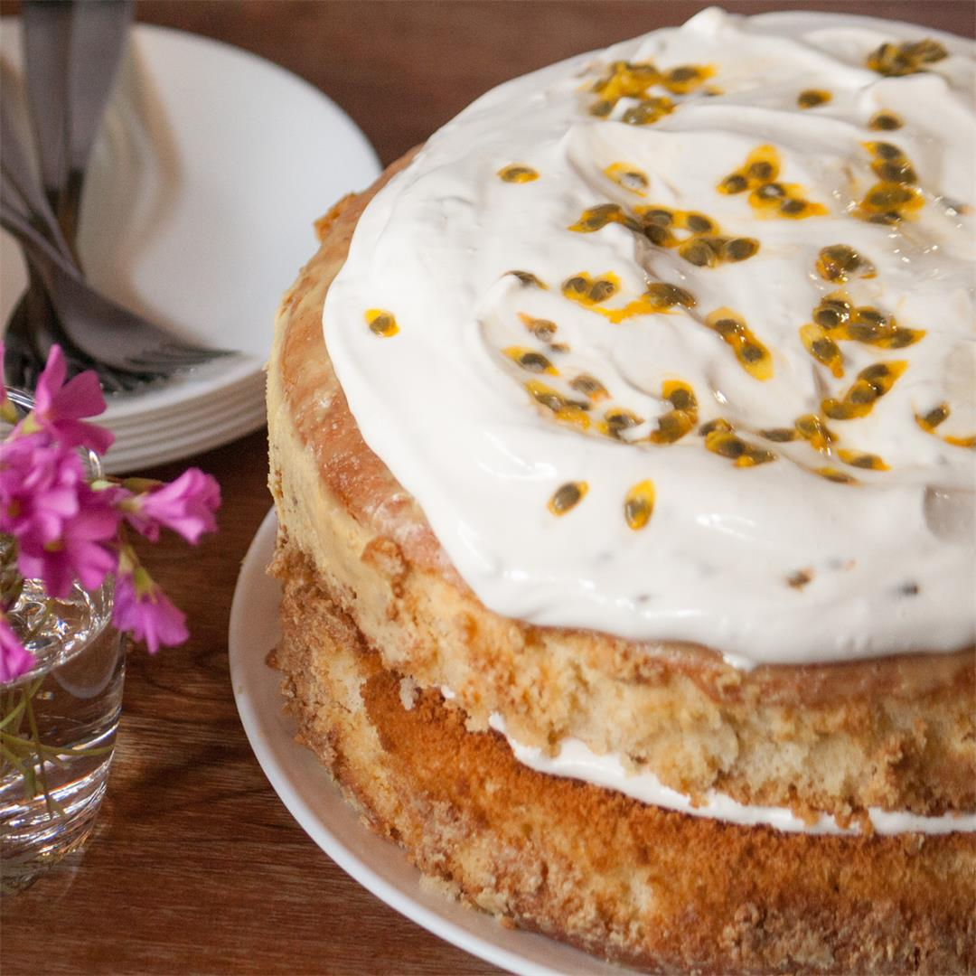 Passion Fruit Tres Leches Cake