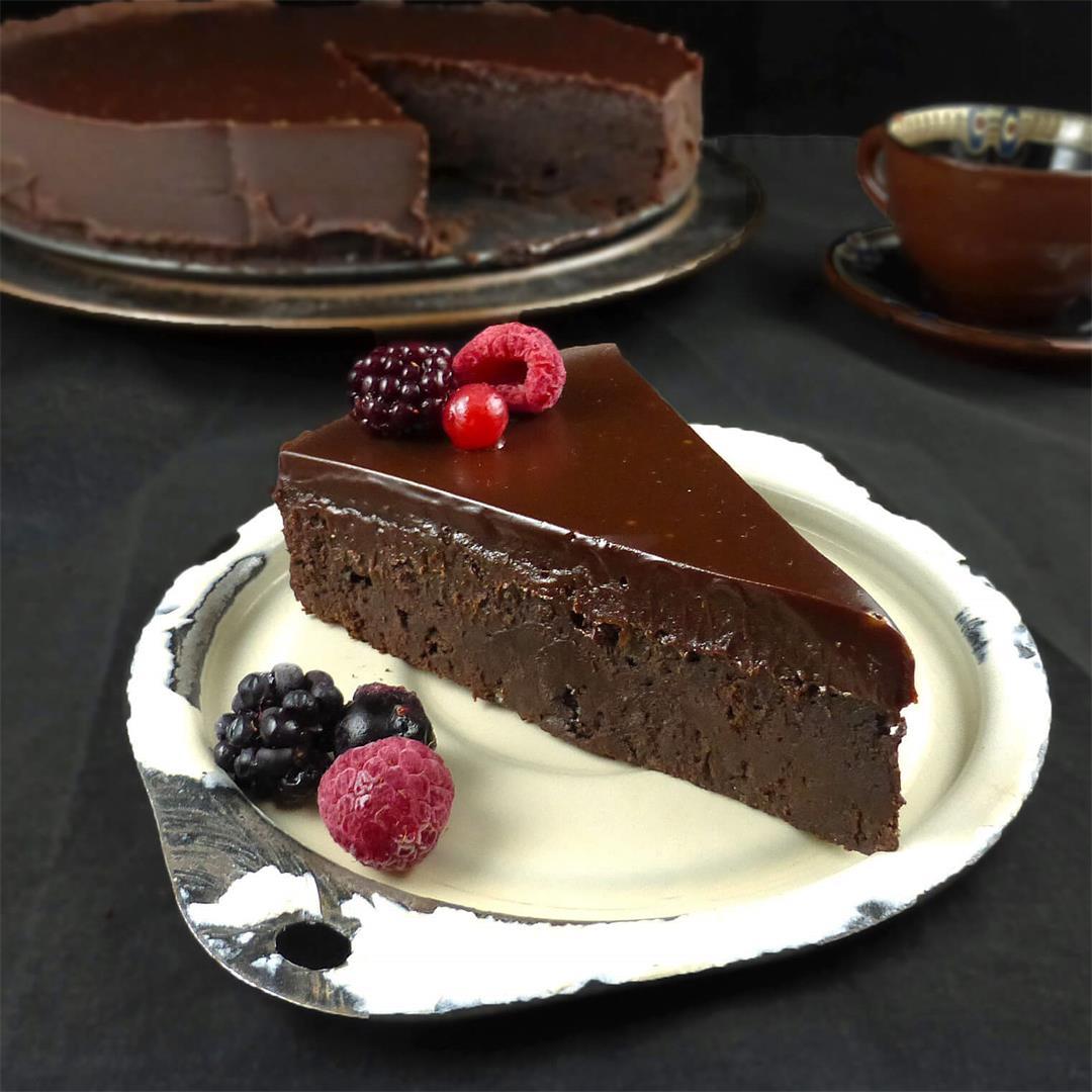 Chocolate Fudge Kladdkaka (Swedish Sticky Cake)