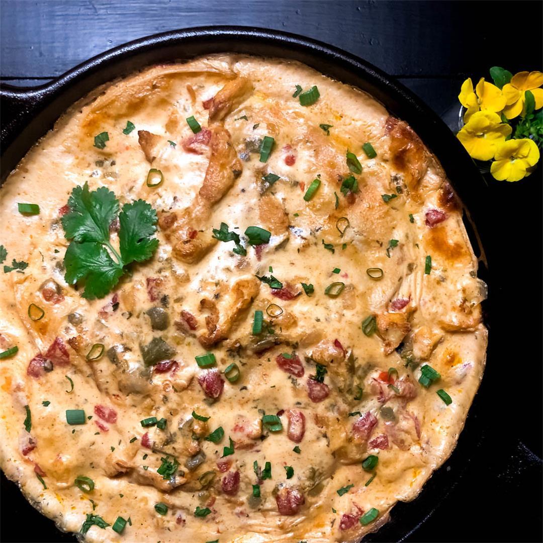 Gluten Free Sour Cream Chicken Enchilada Casserole