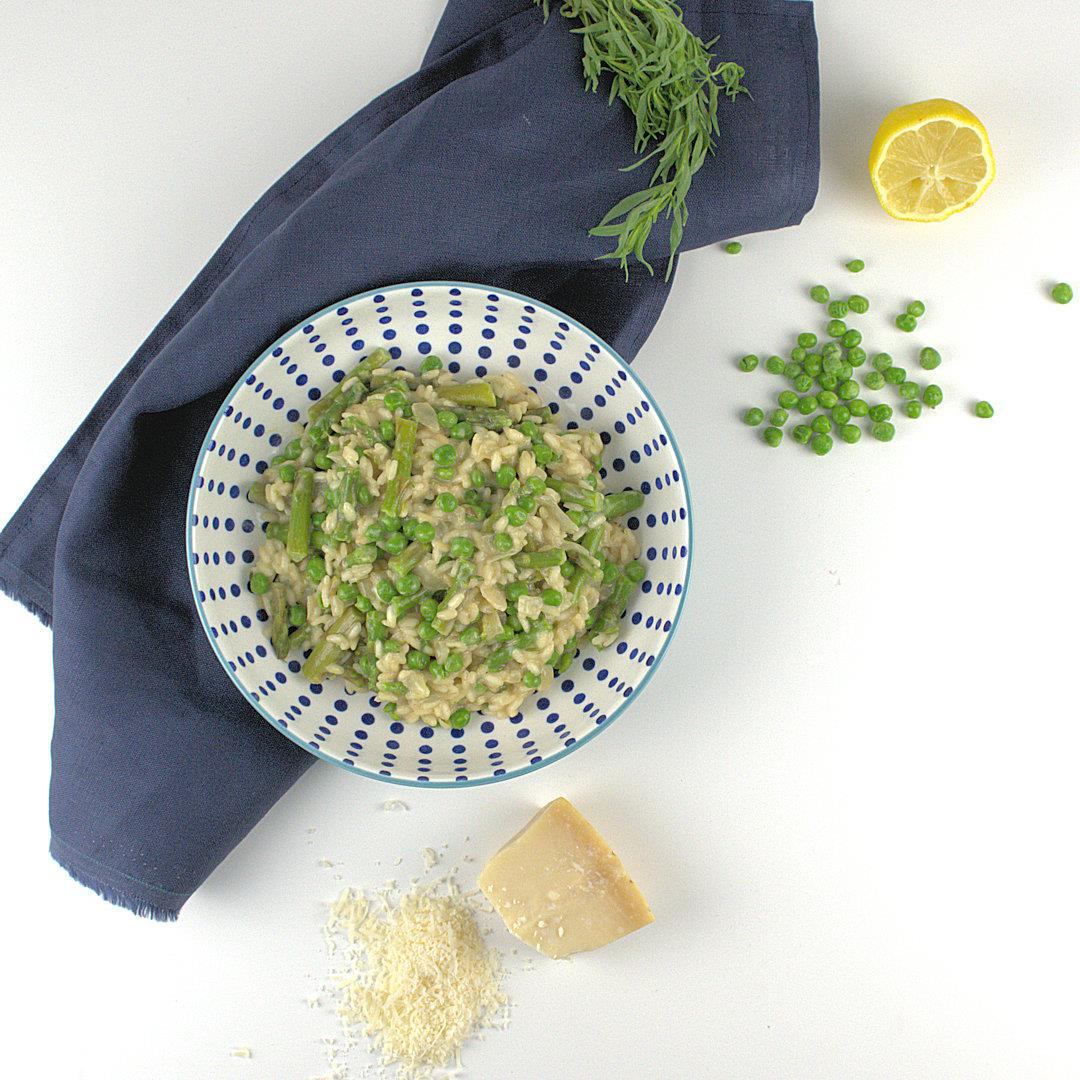 Asparagus and Peas Risotto with Lemon & Tarragon – A Gourmet Fo
