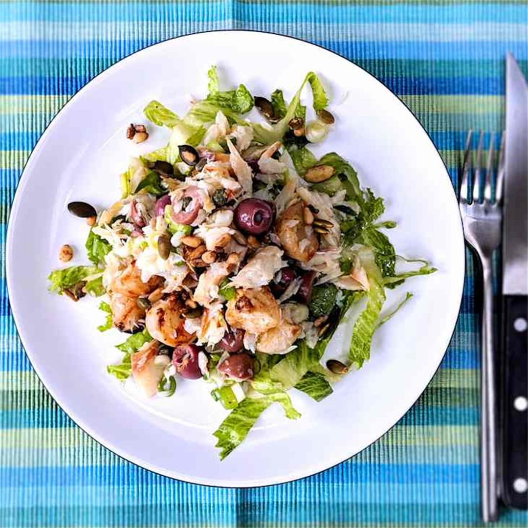 smoked fish salad with roasted turnips