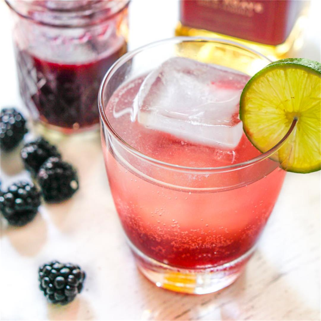 Blackberry Lime Infused Tequila and Tequila Sunset Drink (low c