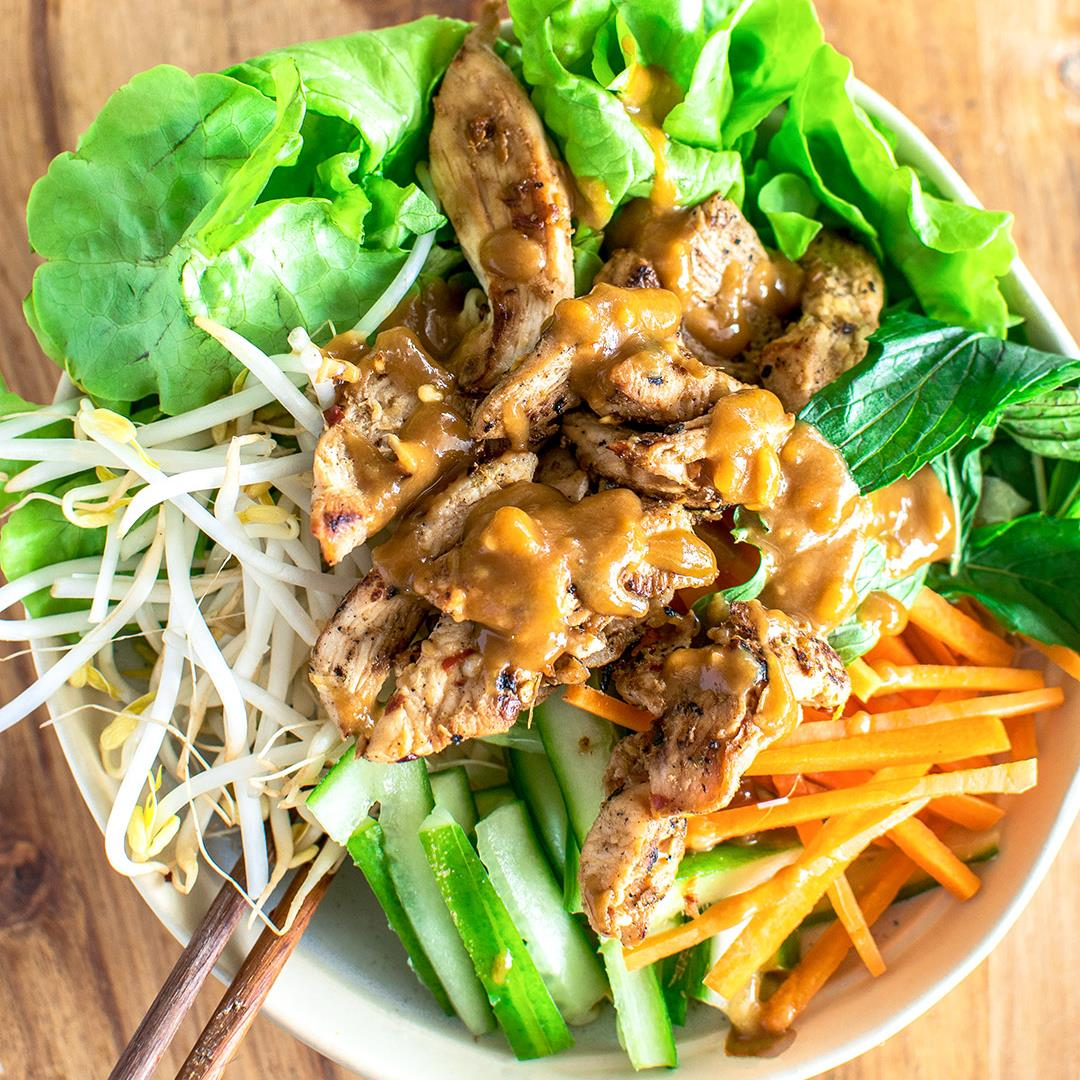Lemongrass Chicken with Vietnamese Noodle Salad