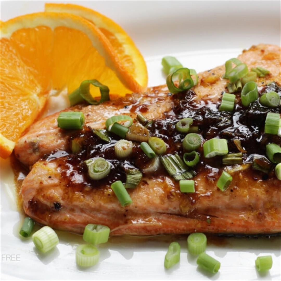 Easy Salmon with Balsamic, Maple, and Orange Glaze
