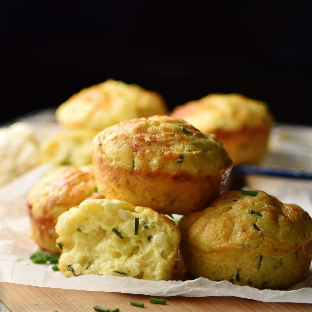 Cauliflower Muffins with Cheese, Kefir & Chives