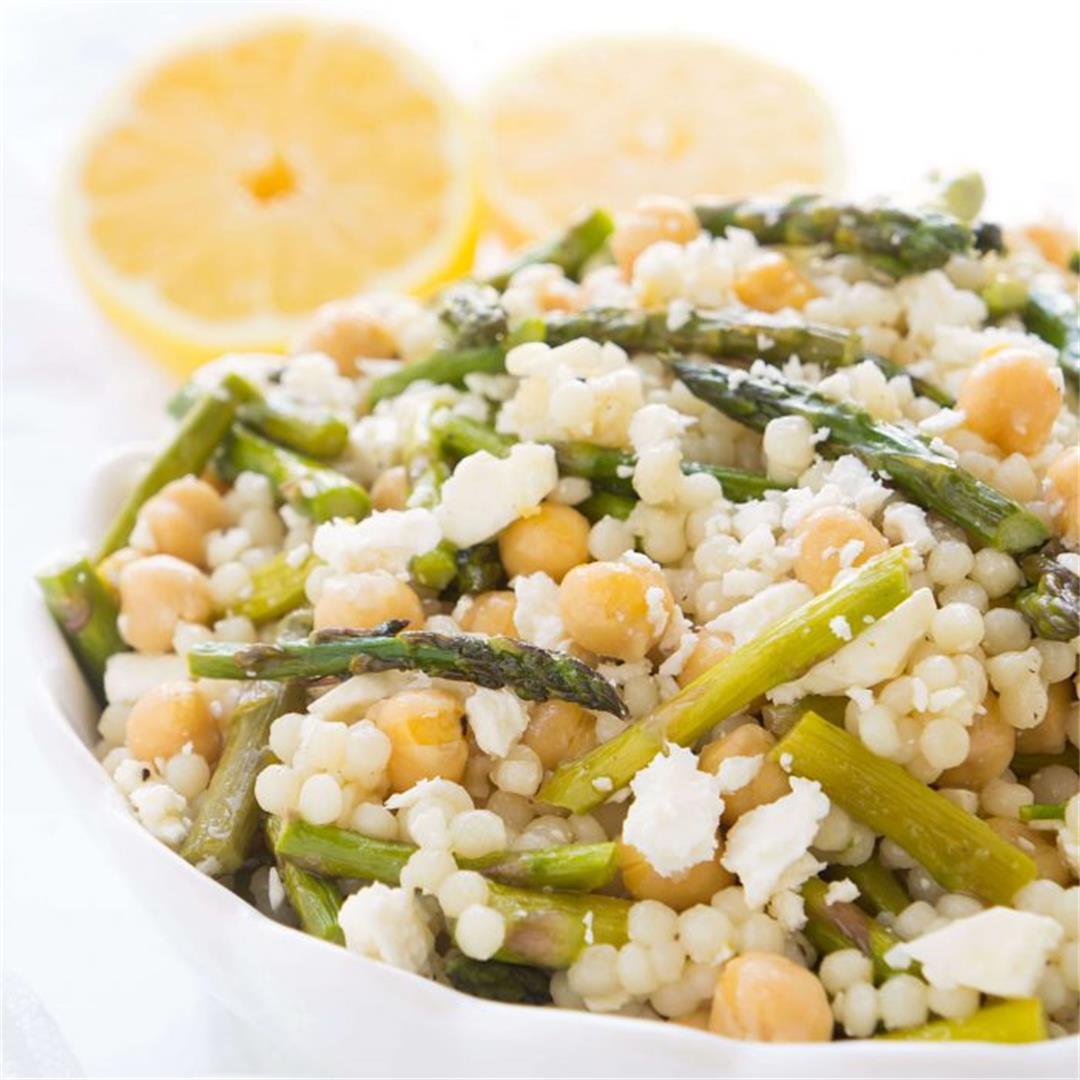 Chickpea & Roasted Asparagus Couscous Salad