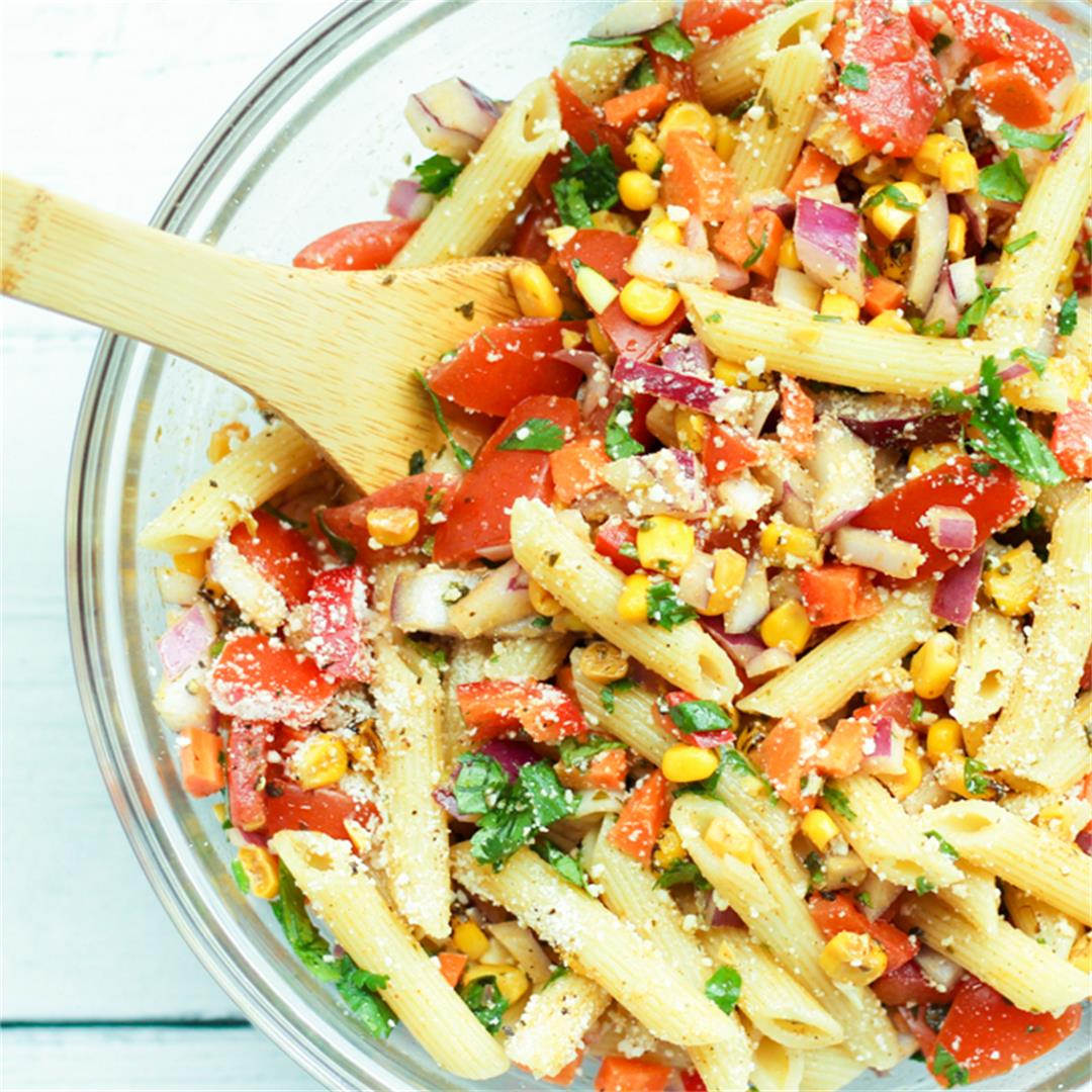 Mexican Pasta Salad with Chili Lime Dressing