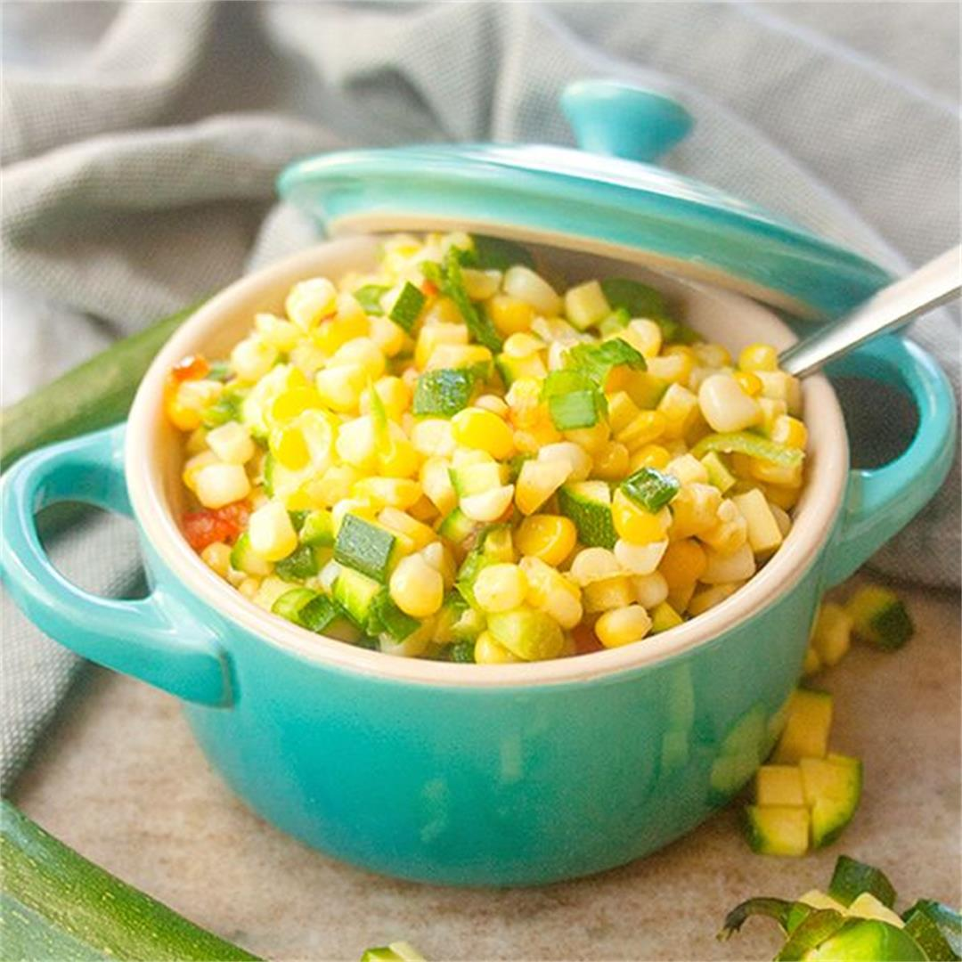 Fresh Corn and Zucchini Summer Salad