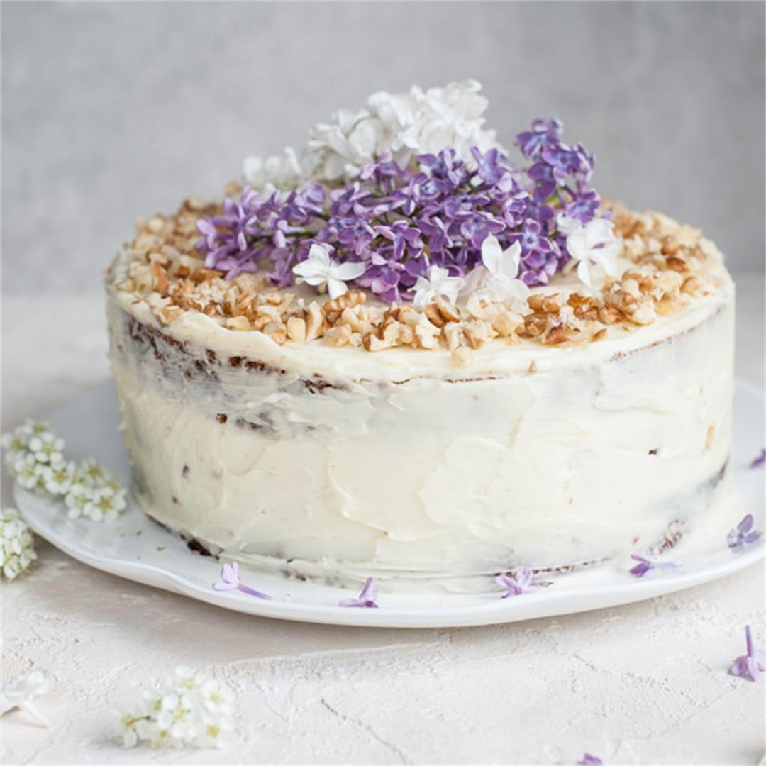 Carrot layer cake with cream cheese frosting