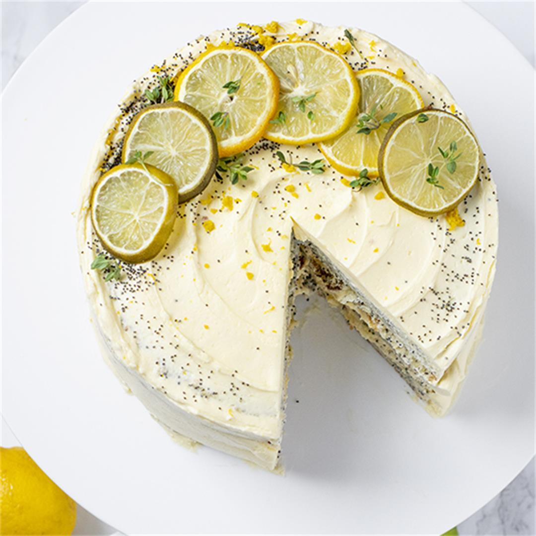 Lemon Poppyseed Layer Cake