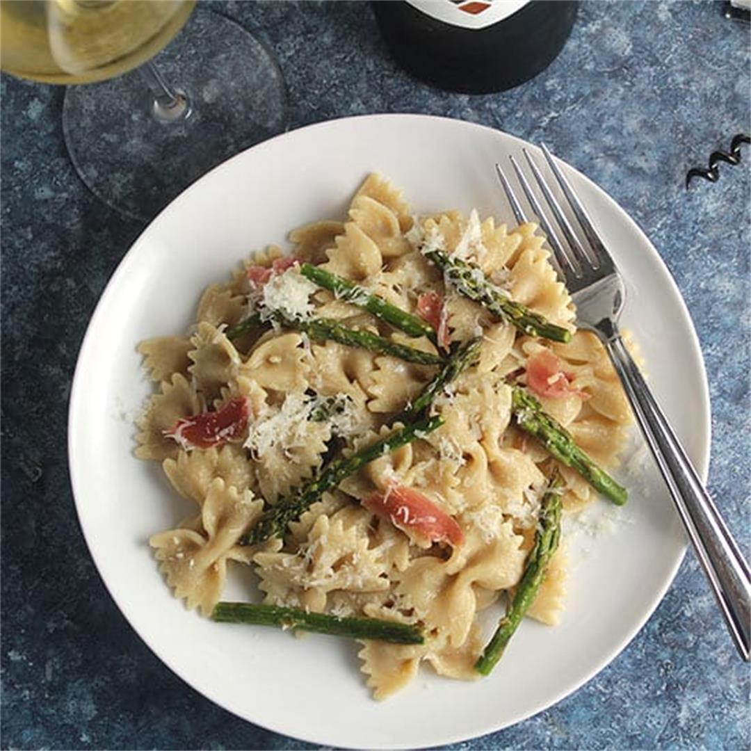 Roasted Asparagus Pasta with Pecorino #ItalianFWT
