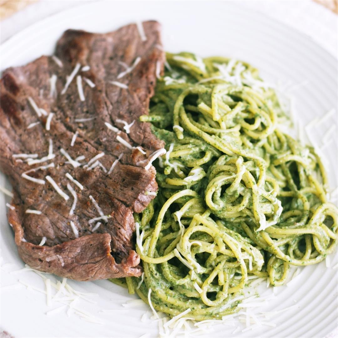 Peruvian Green Spaghetti (Tallarines Verdes)