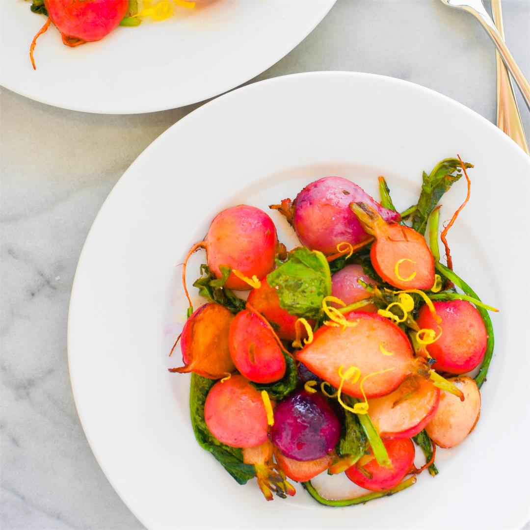 Brown Butter Radishes with Lemon