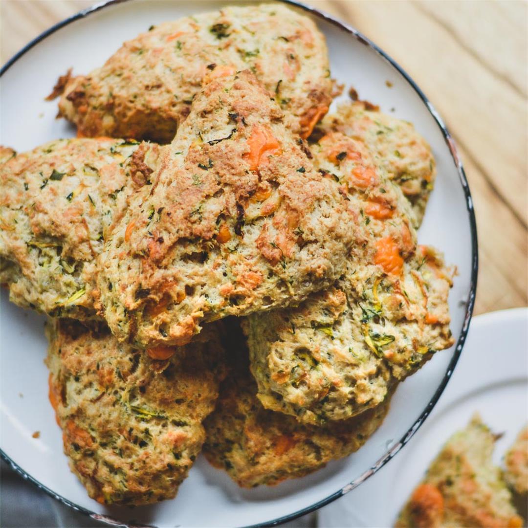 Zucchini & Herb Savory Scones