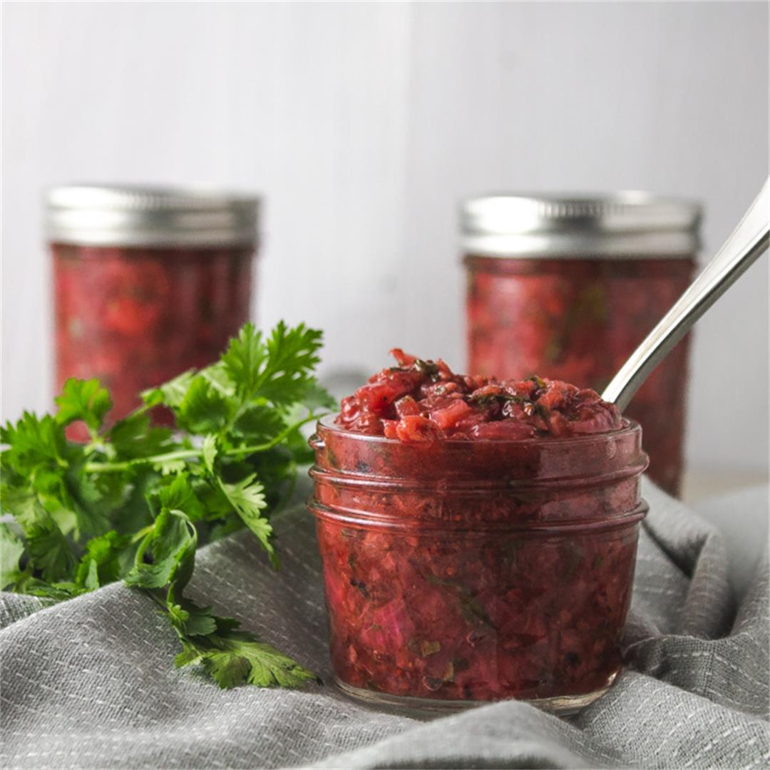 Strawberry Cilantro Chutney