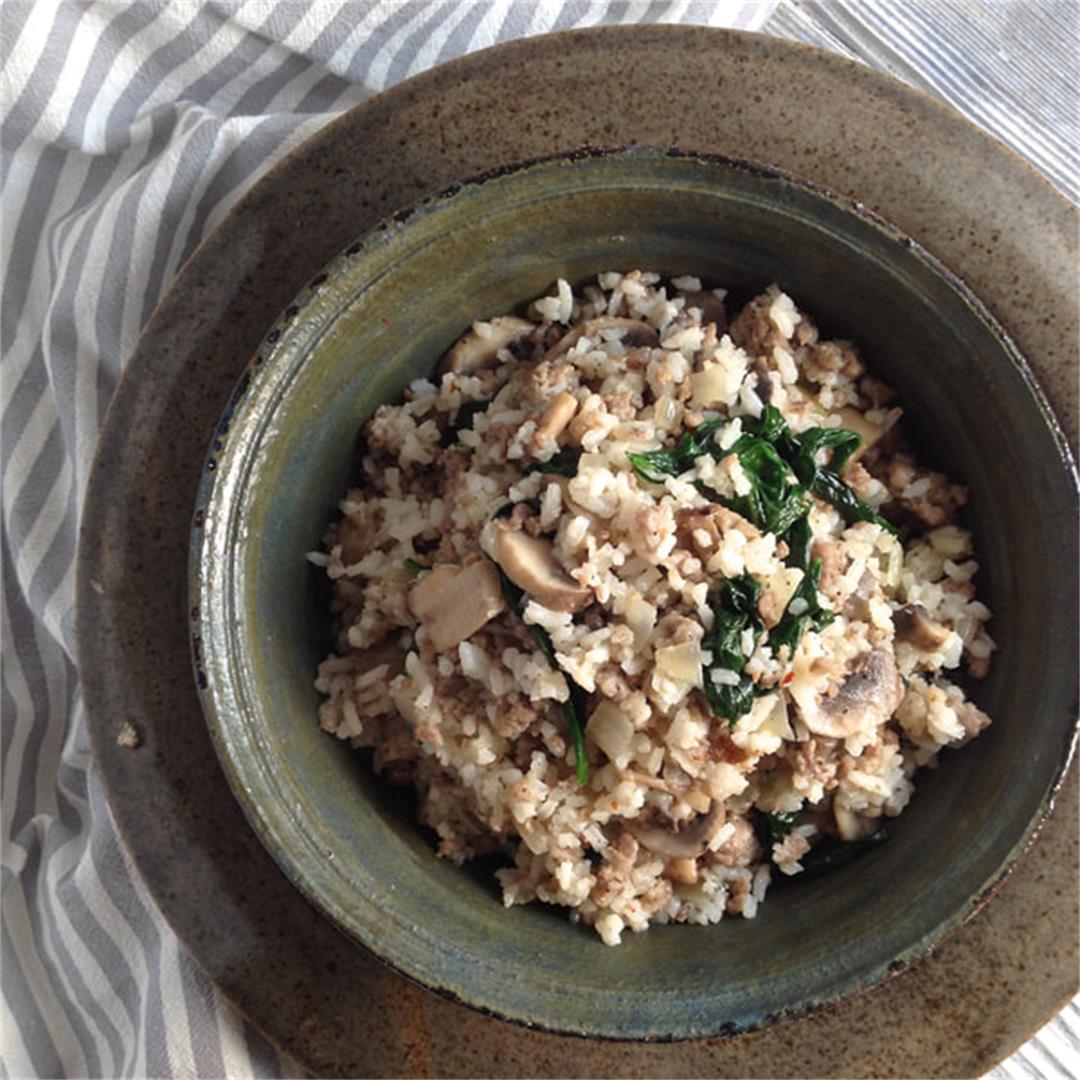 Sausage and Mushroom Rice