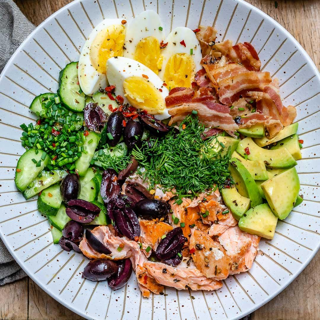 Seared Salmon Avocado Salad