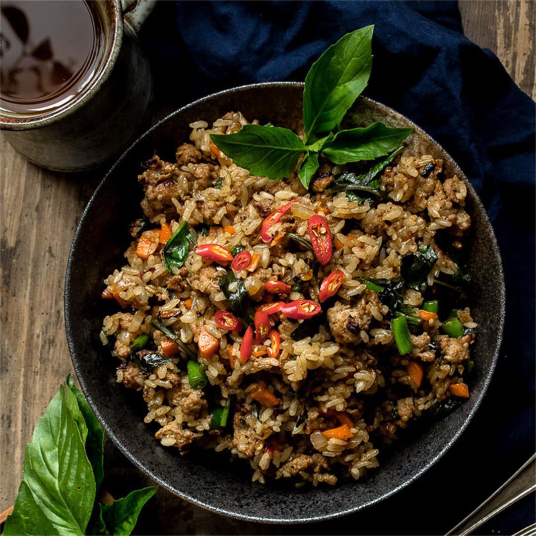 Thai Basil Turkey Fried Rice