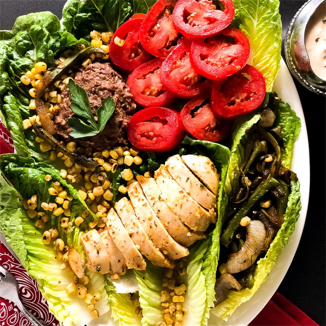 Cajun Grilled Chicken Salad with Remoulade Dressing
