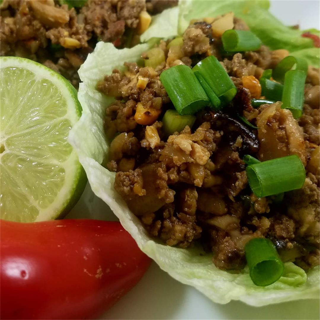 Asian-Style Pork & Turkey Lettuce Wraps