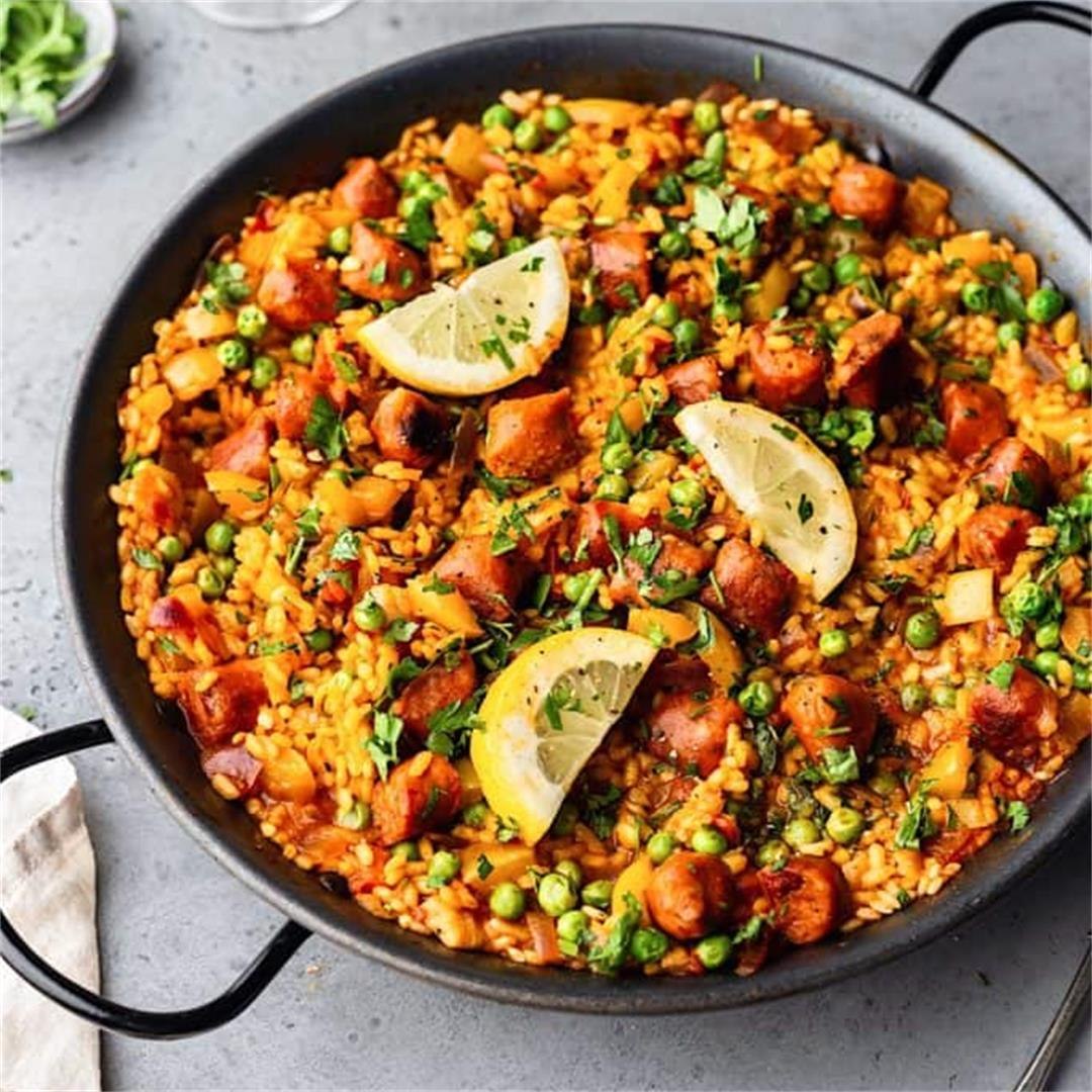 Vegan Chorizo and Vegetable Paella