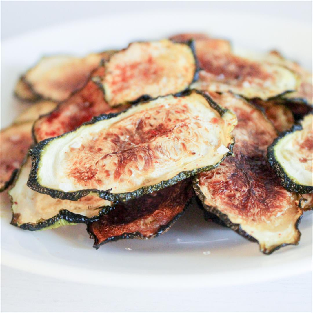 Easy baked zucchini chips in the oven