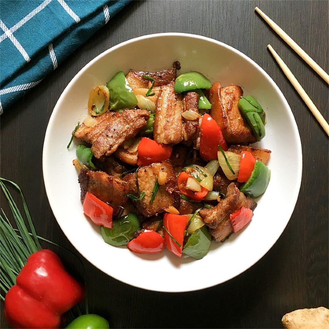Pork Stir Fry with Ginger and Bell Peppers