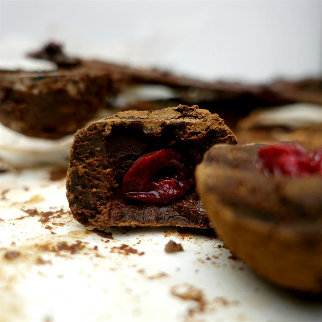 Sour Cherry and Dark Chocolate Truffles