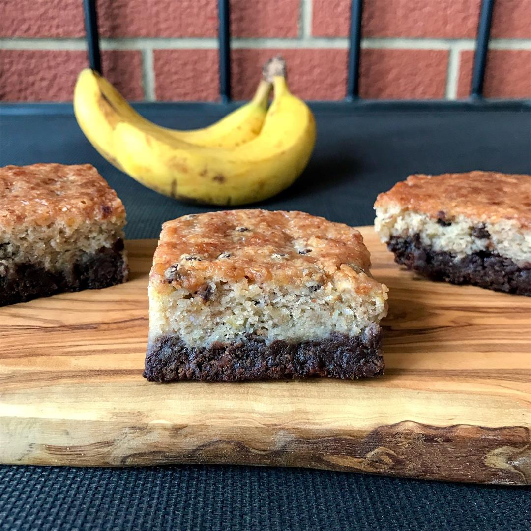 Brownie Bottom Banana Bread Bars