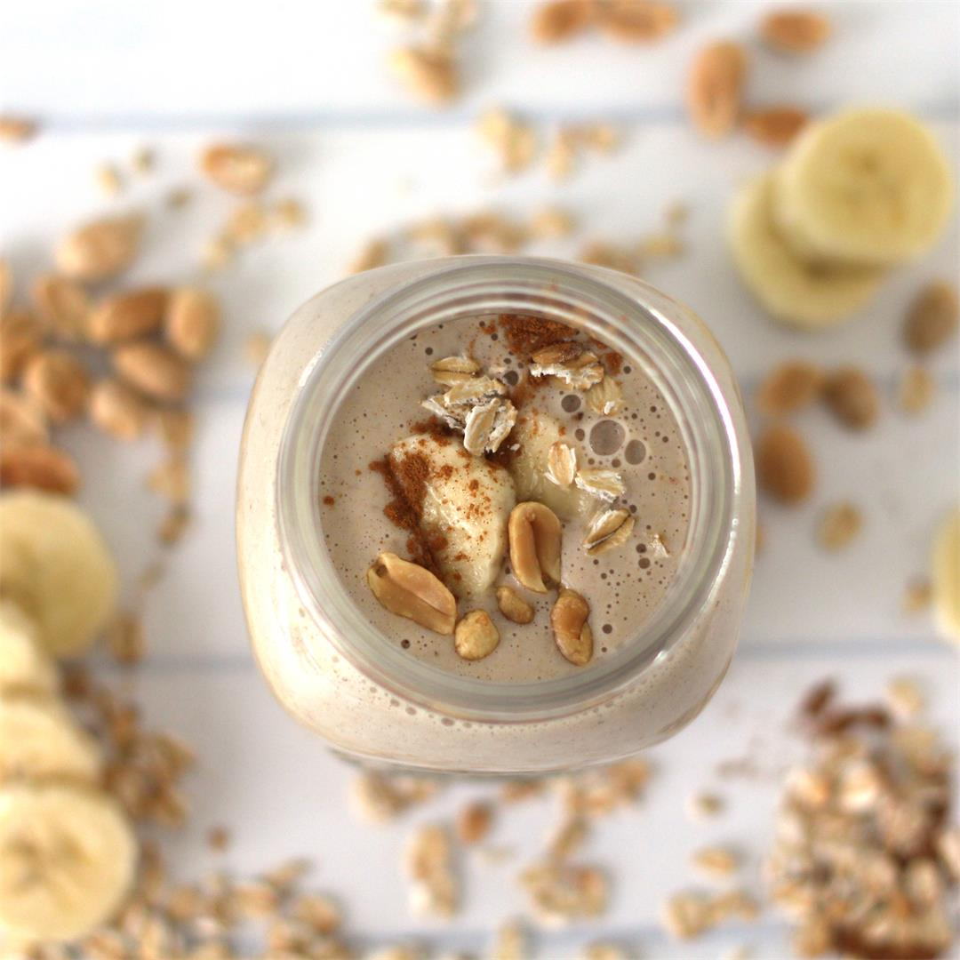Peanut Butter Oatmeal Smoothie for Weight Loss