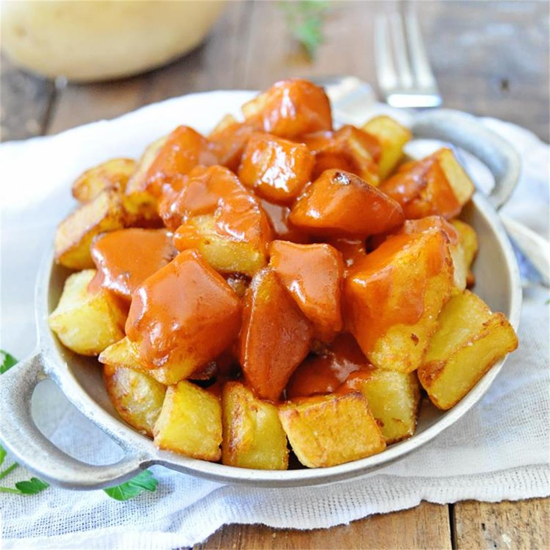 The Authentic Patatas Bravas Served in Madrid Spain