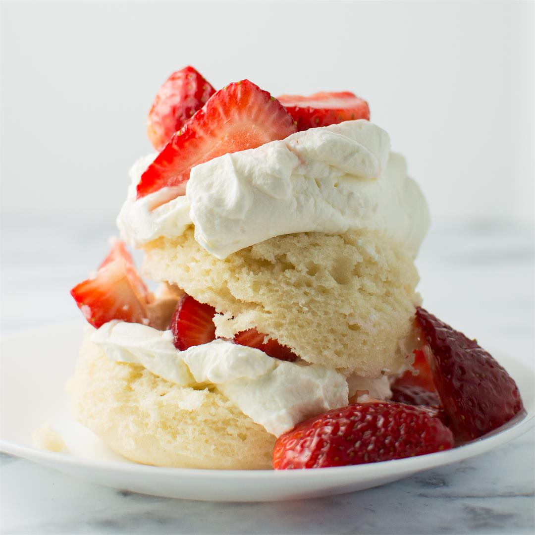Strawberry Shortcake Mug Cake