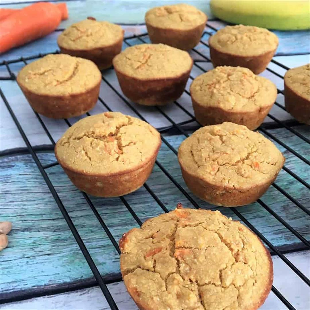 Healthy Carrot Cake Muffins [V+GF]