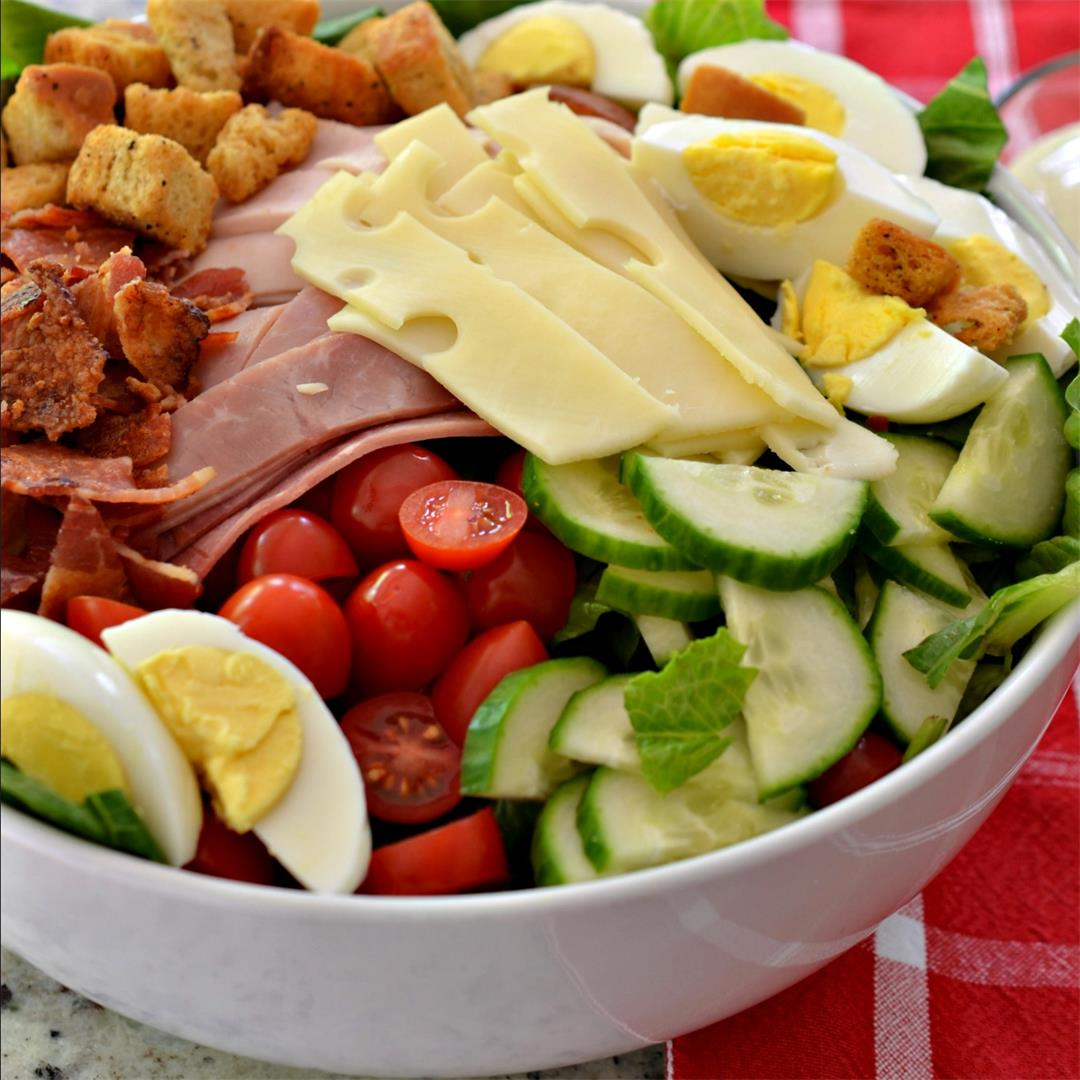 Chef Salad (A Delectable Protein Packed Main Meal Salad)