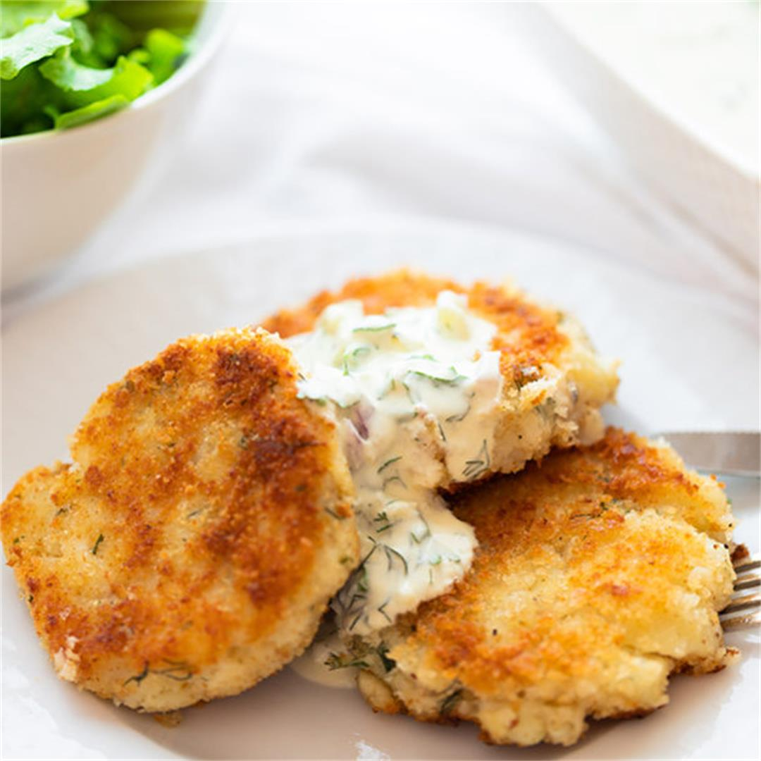 Fish Cake with a Light Tartar sauce