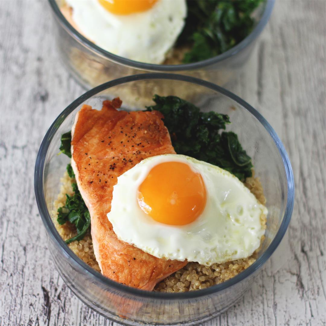 Healthy Salmon and Quinoa Breakfast Bowl (+ Easy Meal Prep)