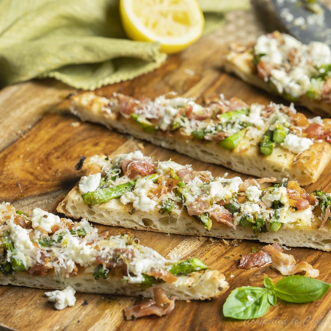 Grilled Prosciutto and Asparagus Flatbread