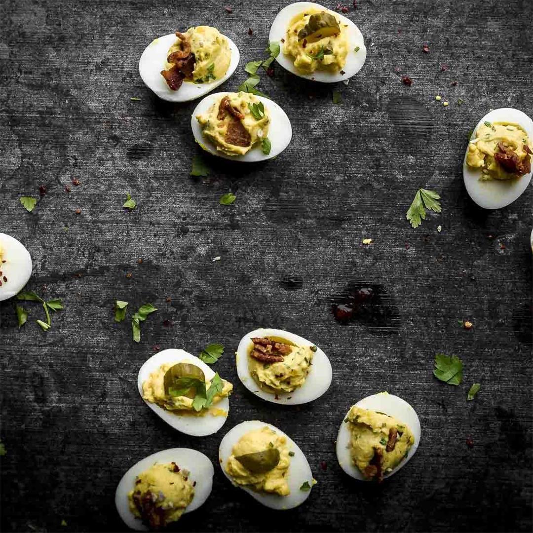 no recipe deviled eggs (w/a recipe) — Recipe Fiction