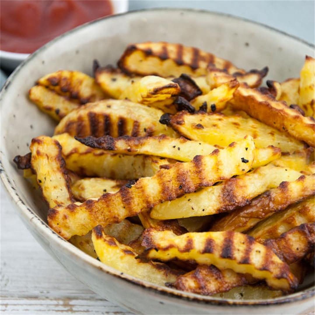 Homemade Crinkle Cut Fries