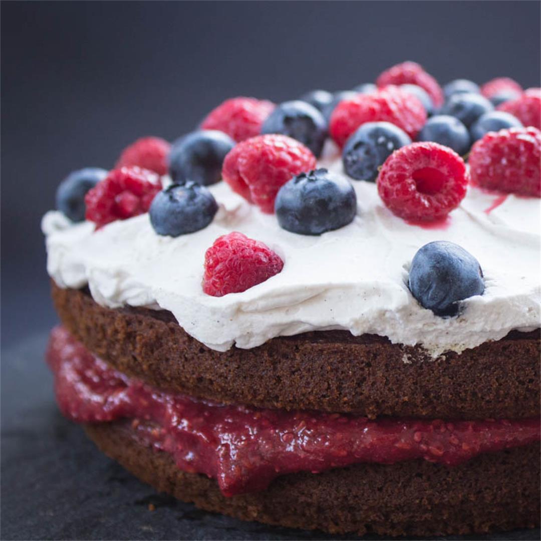 Vegan Berry Sponge Cake (vegan + gluten-free)