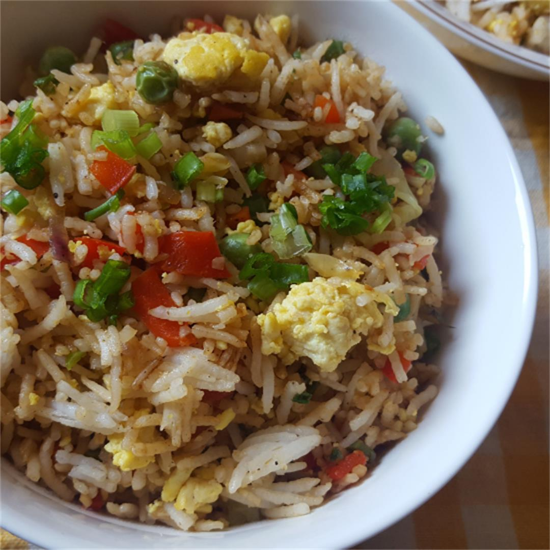 Vegan egg fried rice