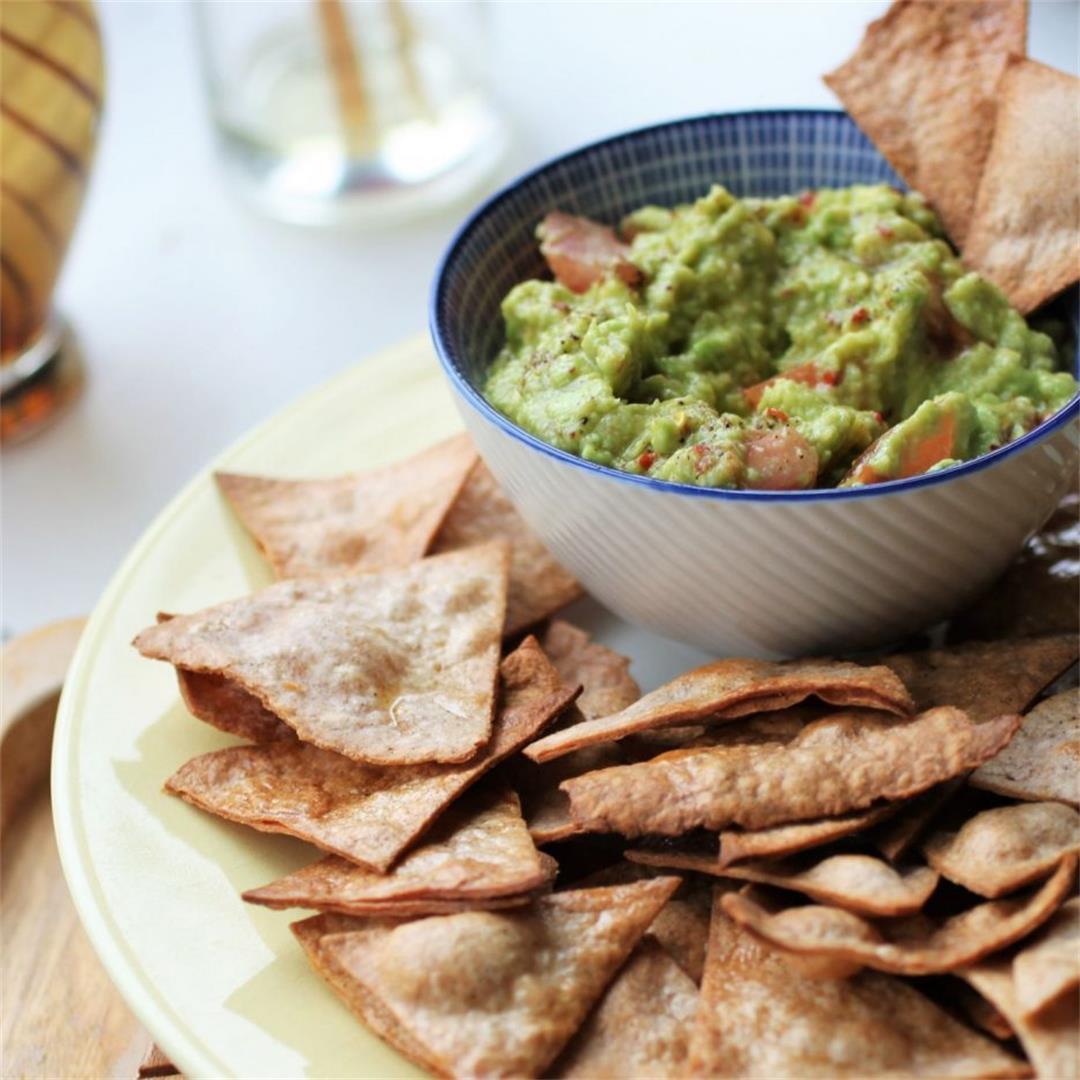Homemade Tortilla Chips & Guacamole Recipe