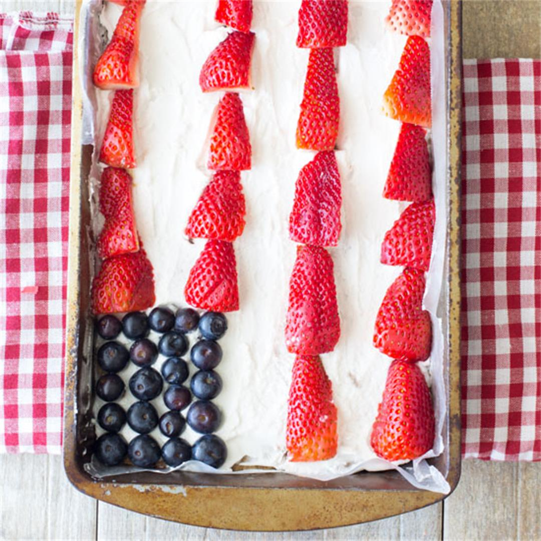 Vegan No Bake Red, White, and Blue
