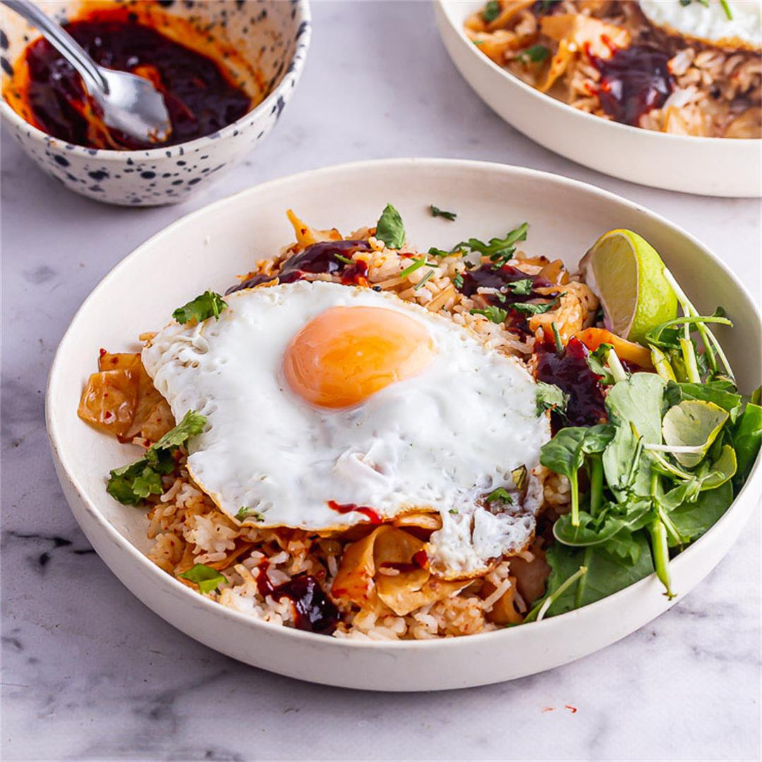 15 Minute Kimchi Fried Rice